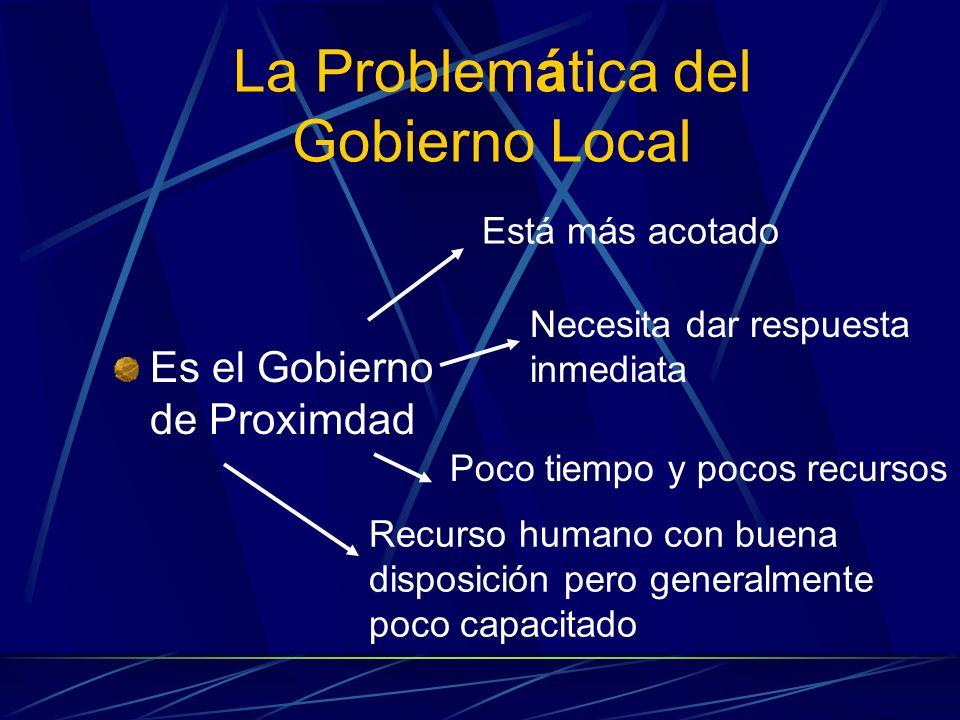 La Problemática del Gobierno Local