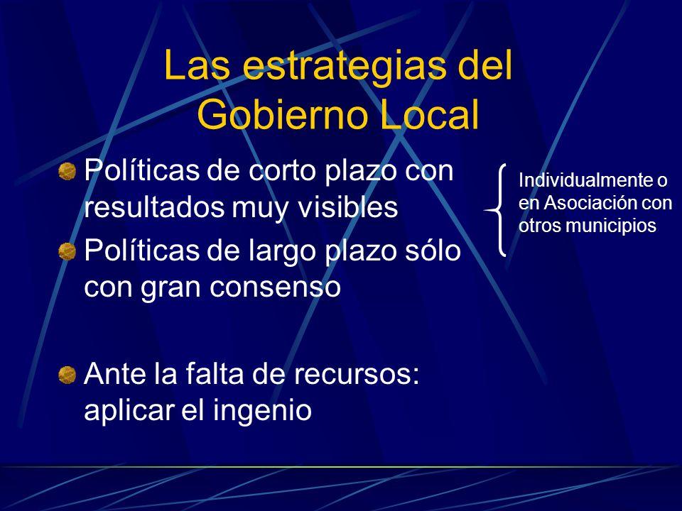 Las estrategias del Gobierno Local