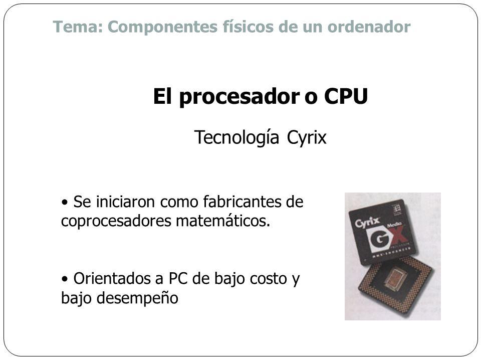 El procesador o CPU Tecnología Cyrix