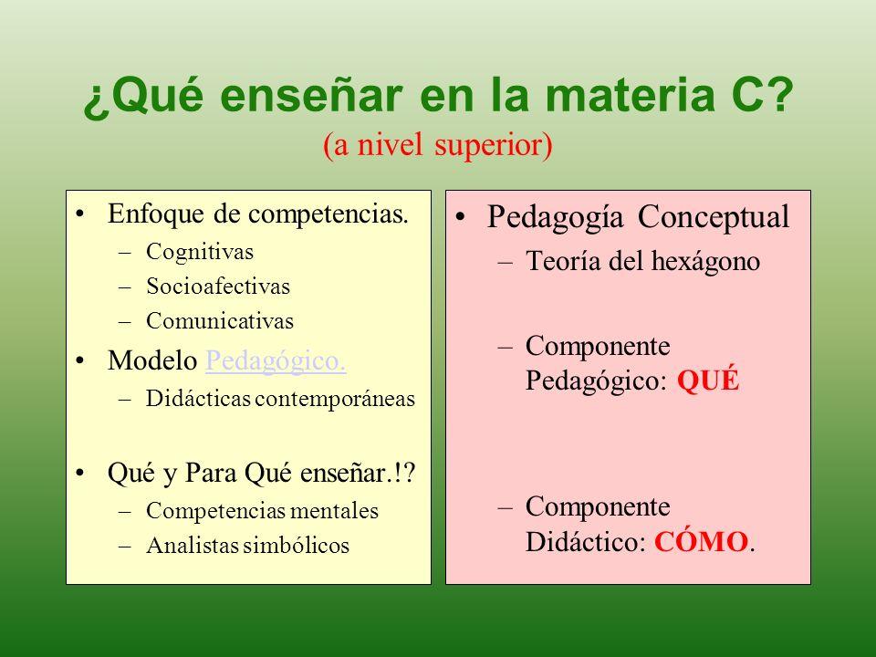 ¿Qué enseñar en la materia C (a nivel superior)