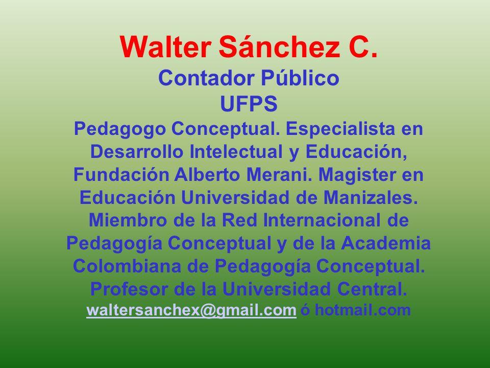 Walter Sánchez C. Contador Público UFPS