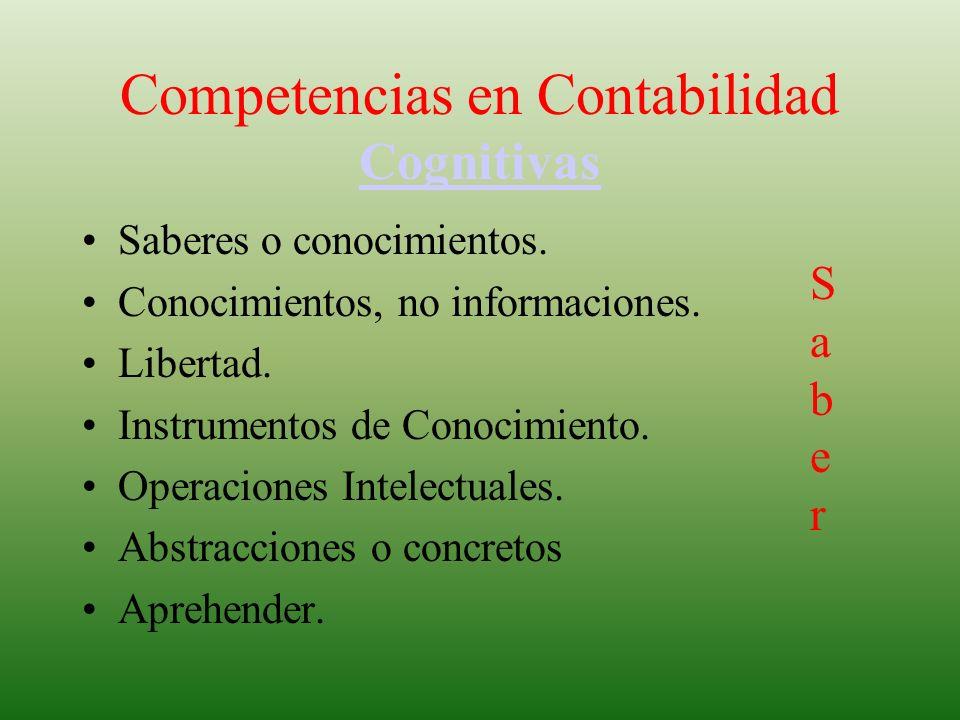 Competencias en Contabilidad Cognitivas