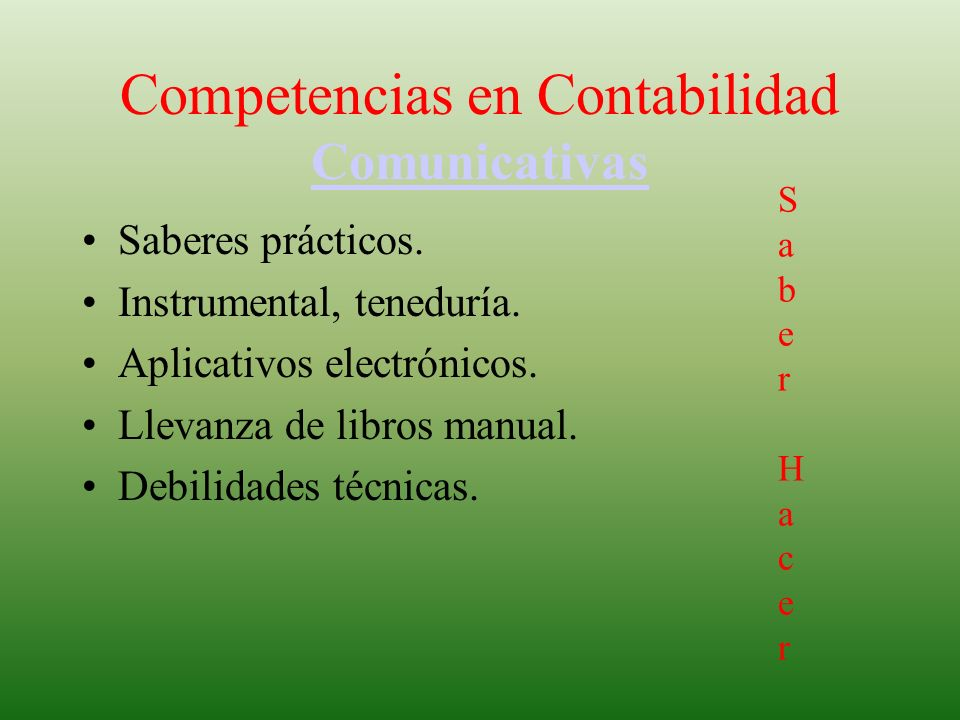 Competencias en Contabilidad Comunicativas