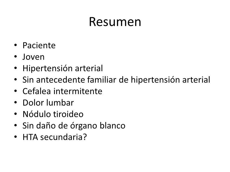 Resumen Paciente Joven Hipertensión arterial