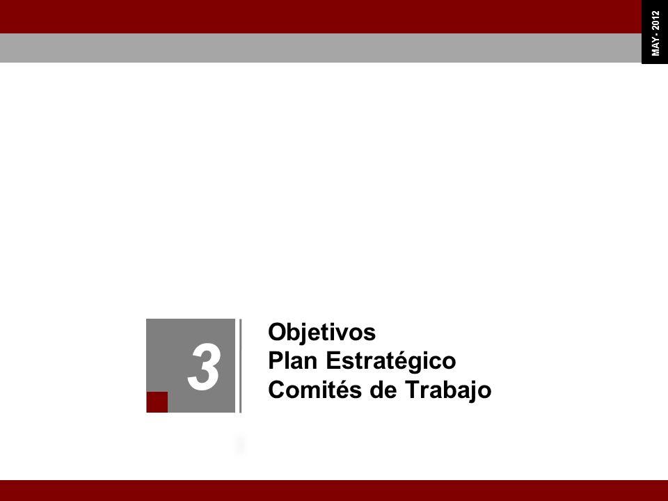Objetivos Plan Estratégico Comités de Trabajo