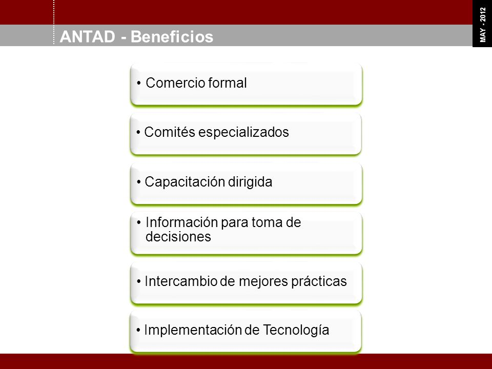 ANTAD - Beneficios Comercio formal Comités especializados