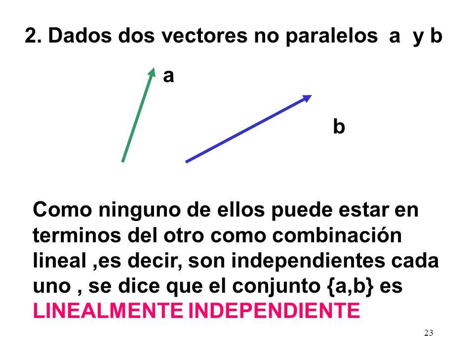2. Dados dos vectores no paralelos a y b