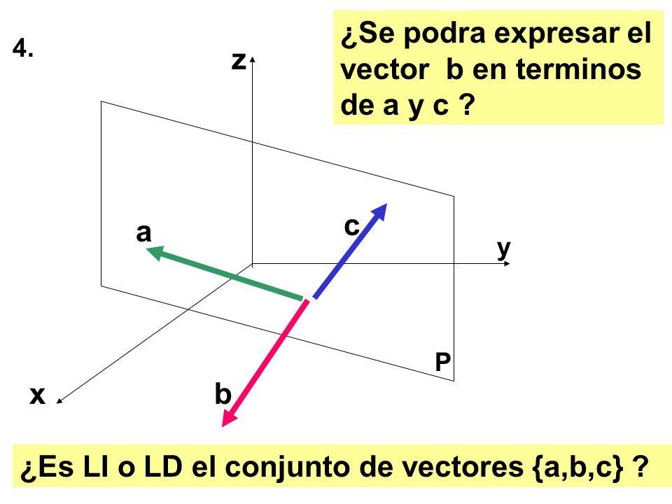 ¿Se podra expresar el vector b en terminos de a y c z