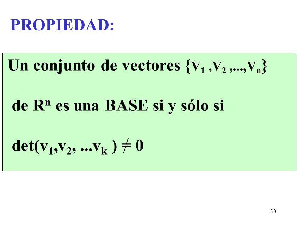Un conjunto de vectores {V1 ,V2 ,...,Vn}