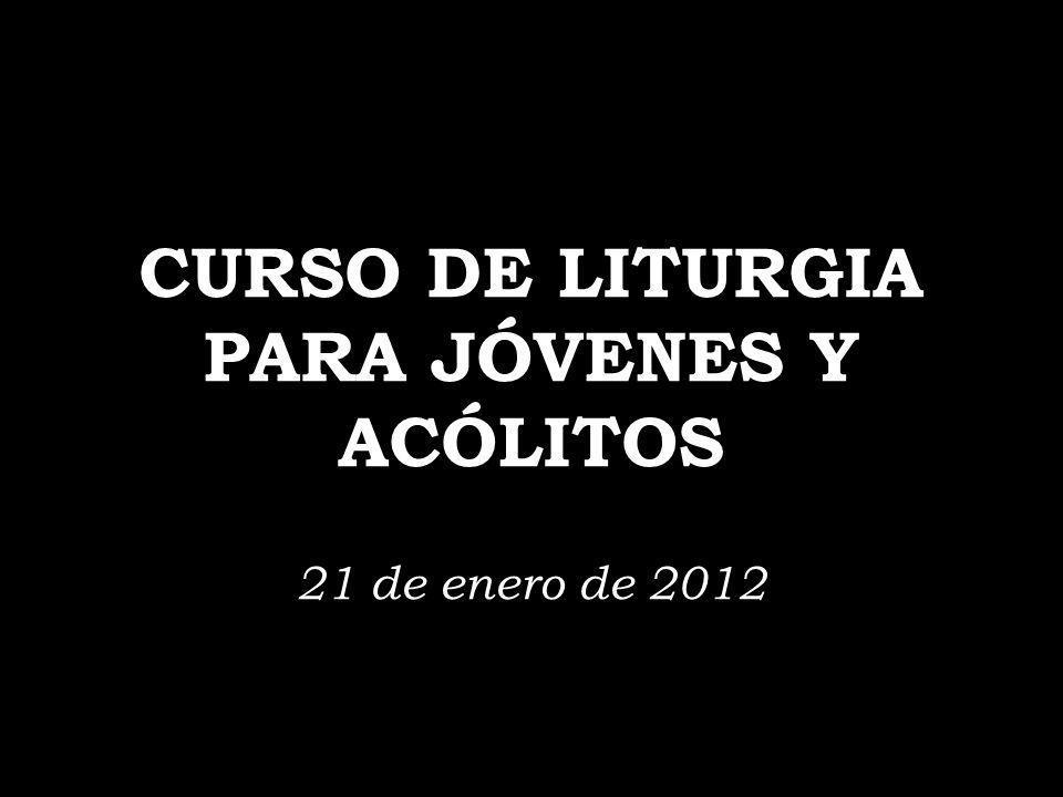 CURSO DE LITURGIA PARA JÓVENES Y ACÓLITOS 21 de enero de 2012