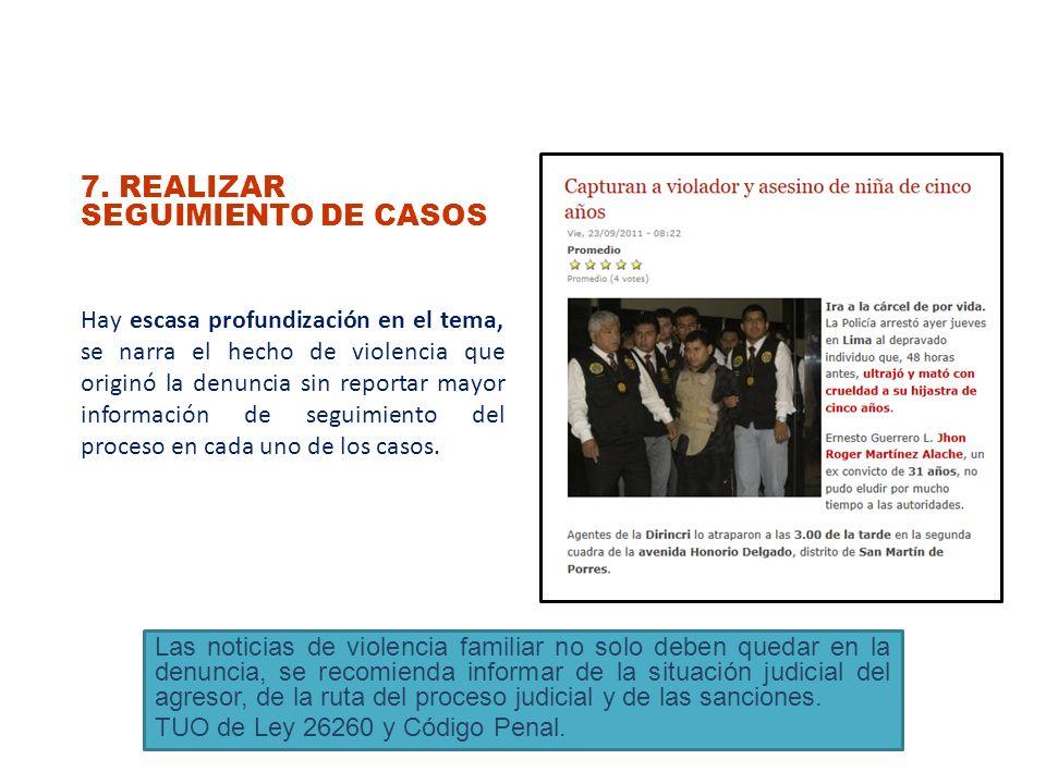 7. REALIZAR SEGUIMIENTO DE CASOS