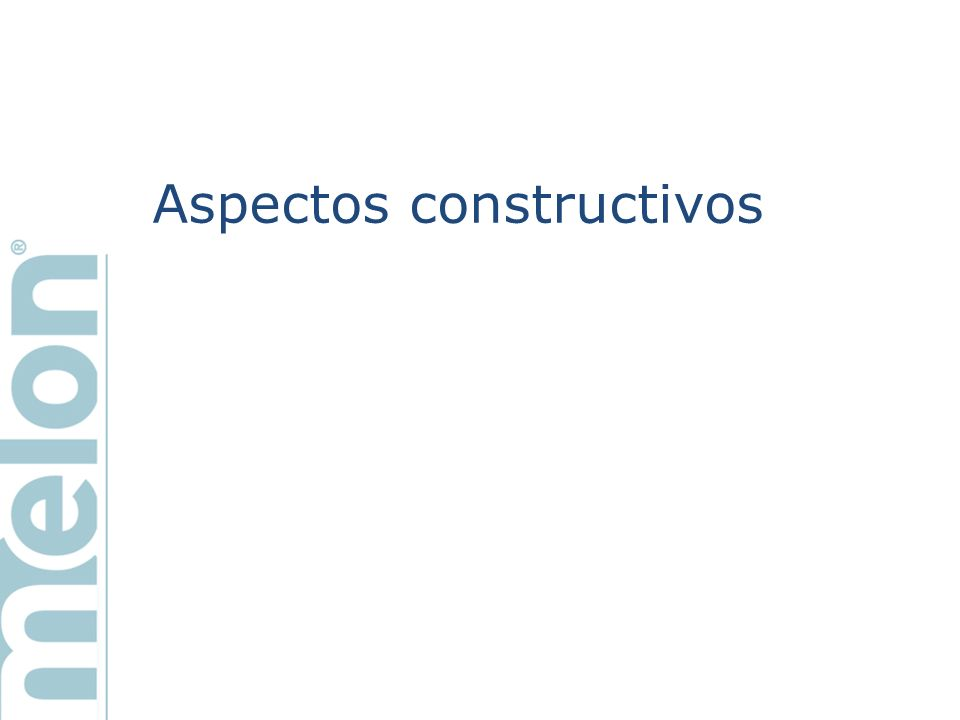 Aspectos constructivos