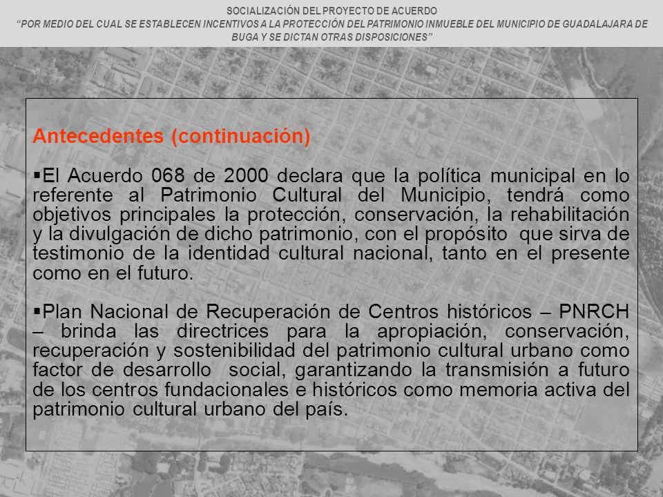 SOCIALIZACIÓN DEL PROYECTO DE ACUERDO
