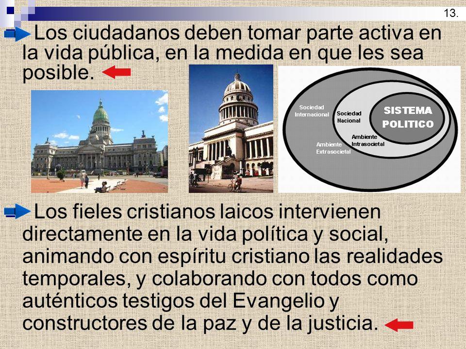 13. Los ciudadanos deben tomar parte activa en la vida pública, en la medida en que les sea posible.