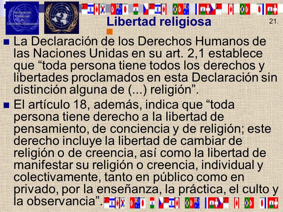 Libertad religiosa 21.