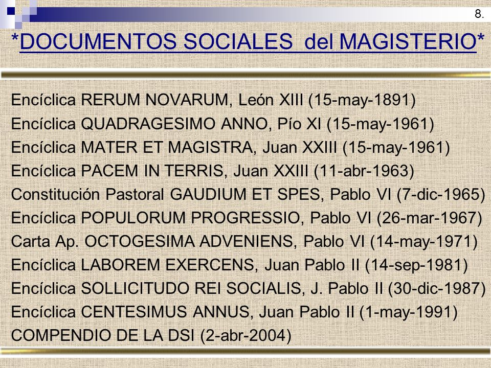 *DOCUMENTOS SOCIALES del MAGISTERIO*