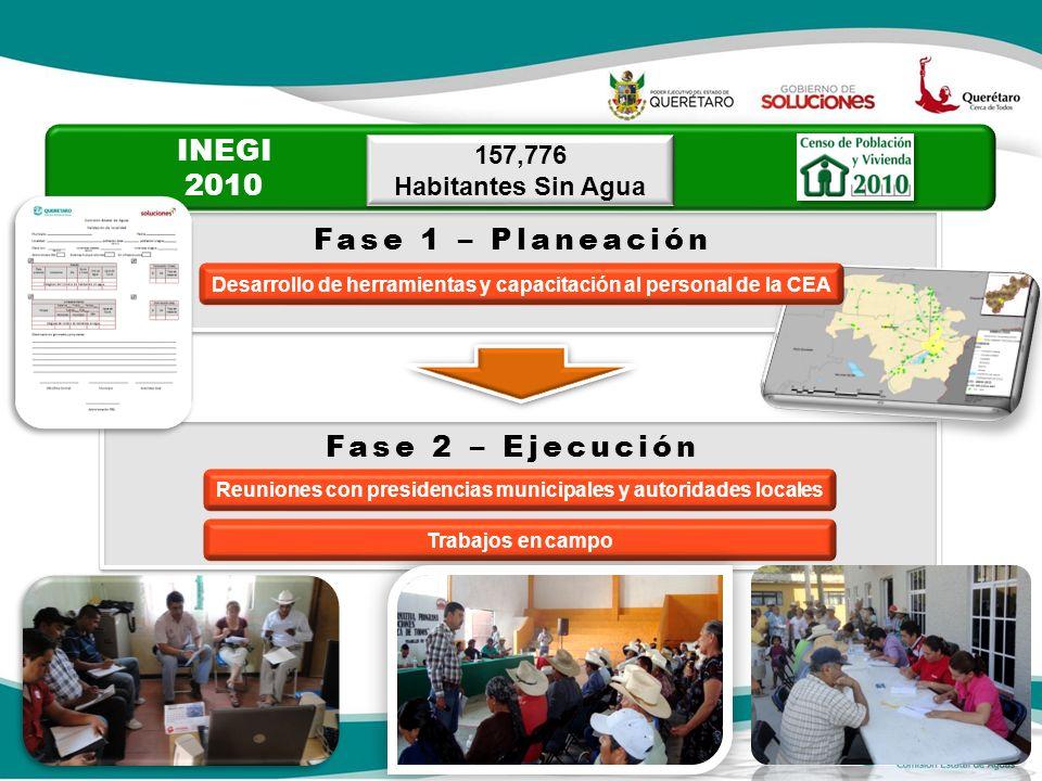 INEGI 2010 Fase 1 – Planeación Fase 2 – Ejecución 157,776