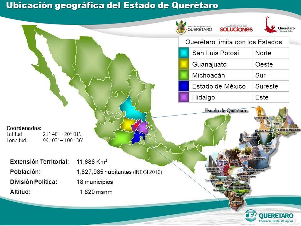 Querétaro limita con los Estados