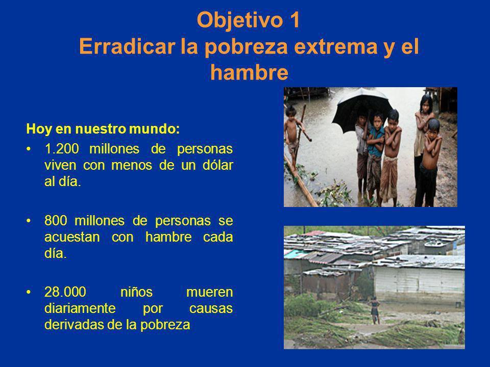 Objetivo 1 Erradicar la pobreza extrema y el hambre