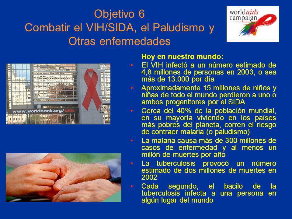Objetivo 6 Combatir el VIH/SIDA, el Paludismo y Otras enfermedades