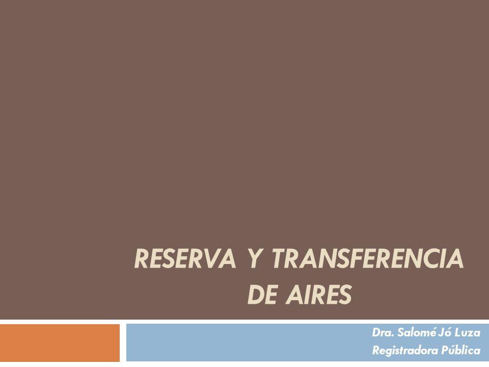 Reserva y Transferencia de aires