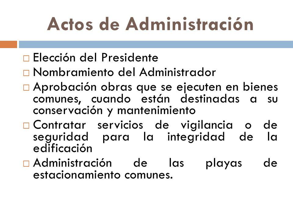 Actos de Administración