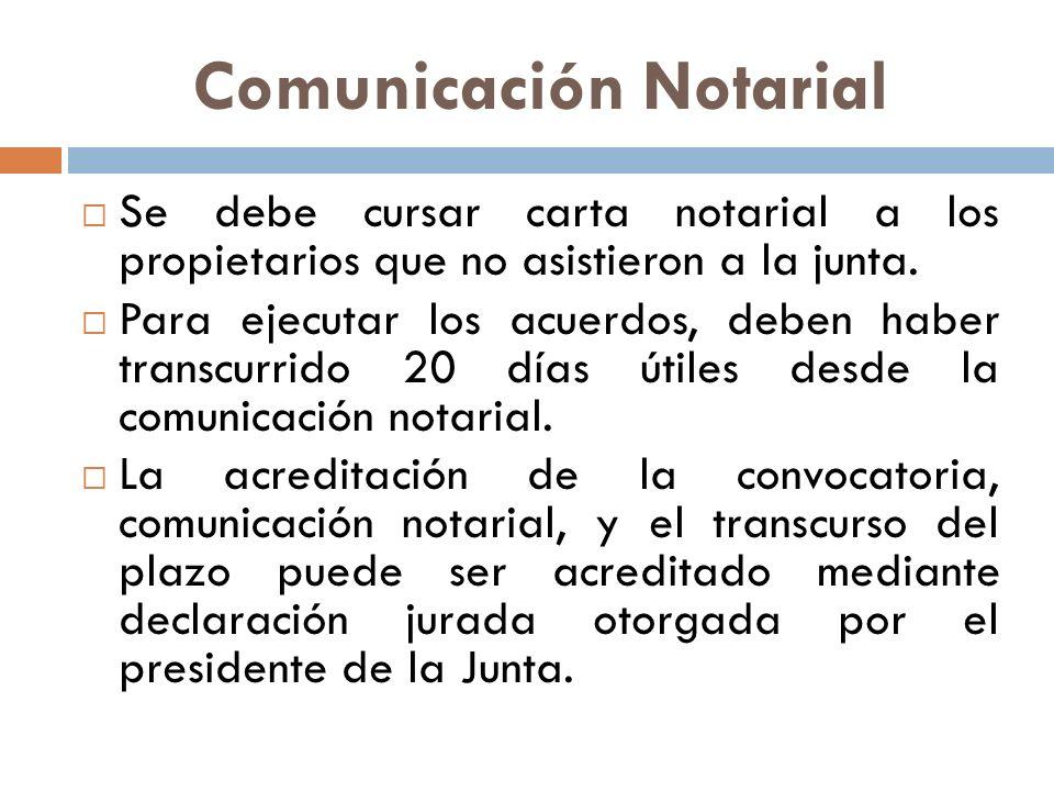 Comunicación Notarial