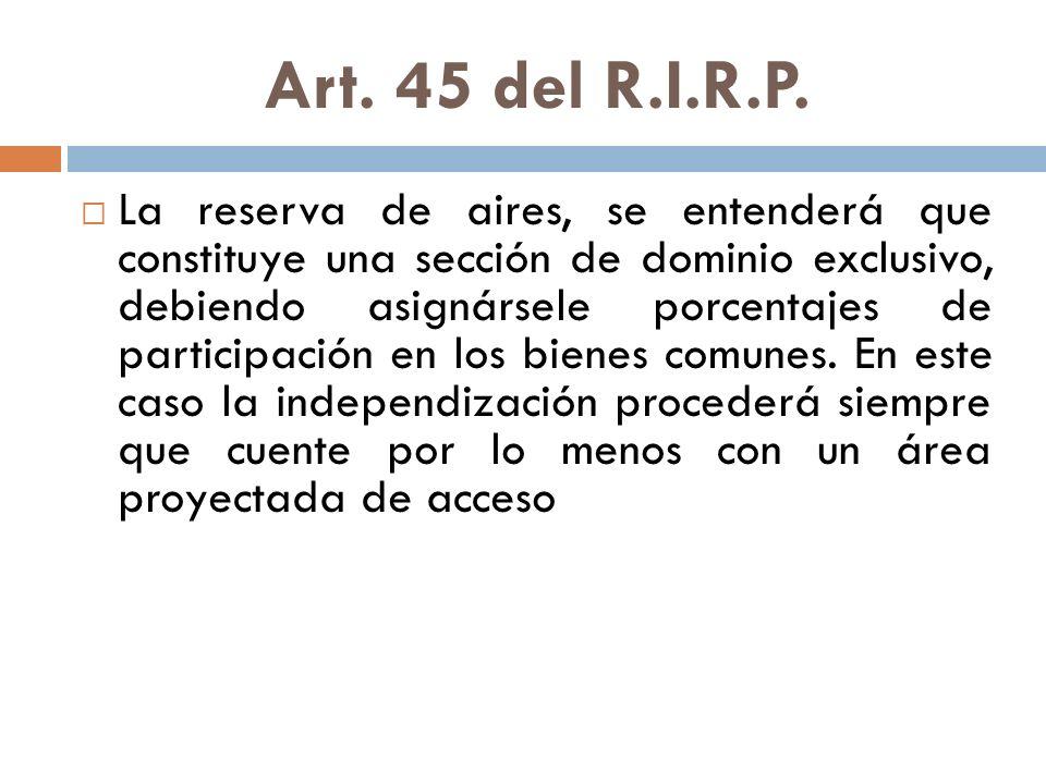 Art. 45 del R.I.R.P.