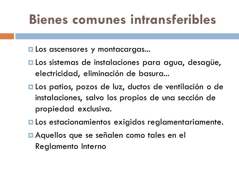 Bienes comunes intransferibles
