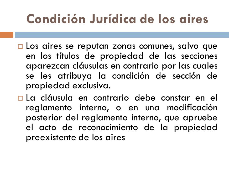 Condición Jurídica de los aires