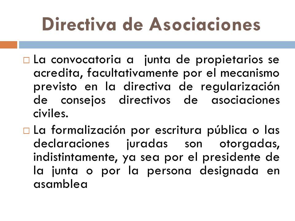 Directiva de Asociaciones