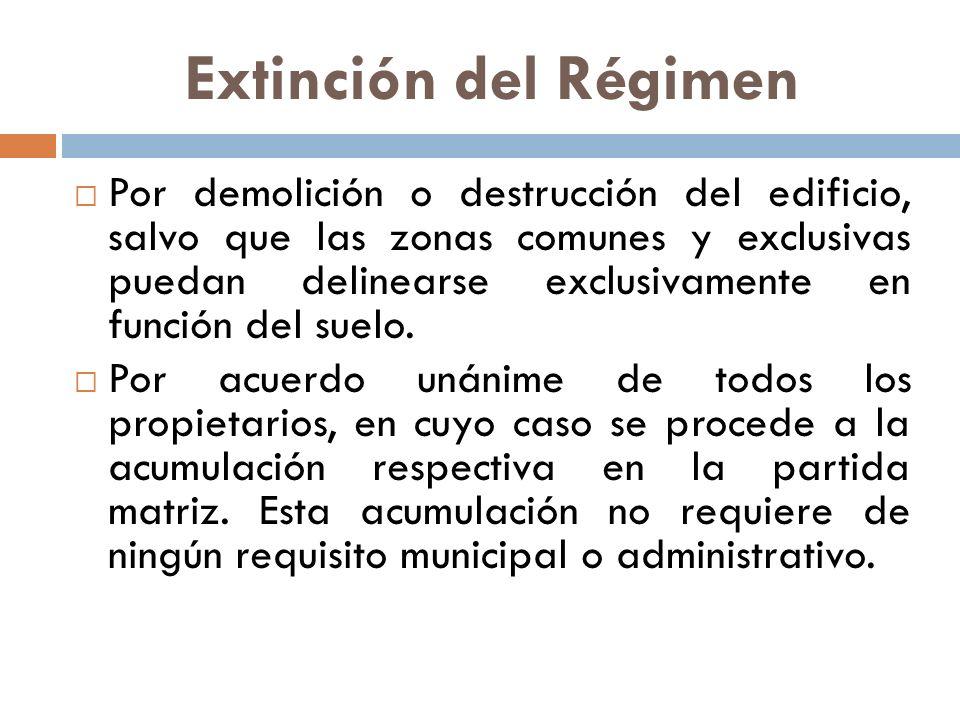 Extinción del Régimen