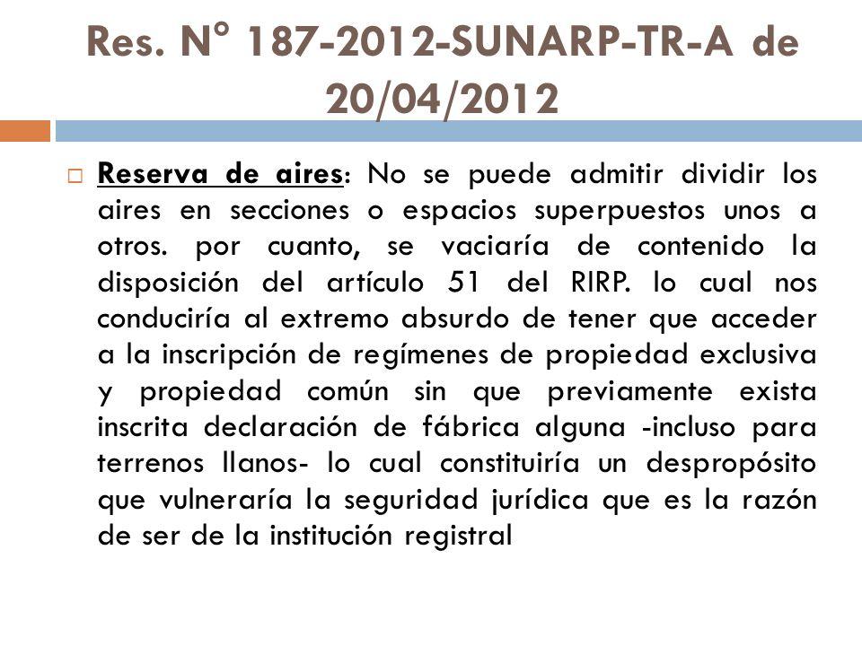 Res. N° 187-2012-SUNARP-TR-A de 20/04/2012