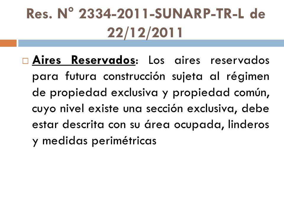Res. N° 2334-2011-SUNARP-TR-L de 22/12/2011