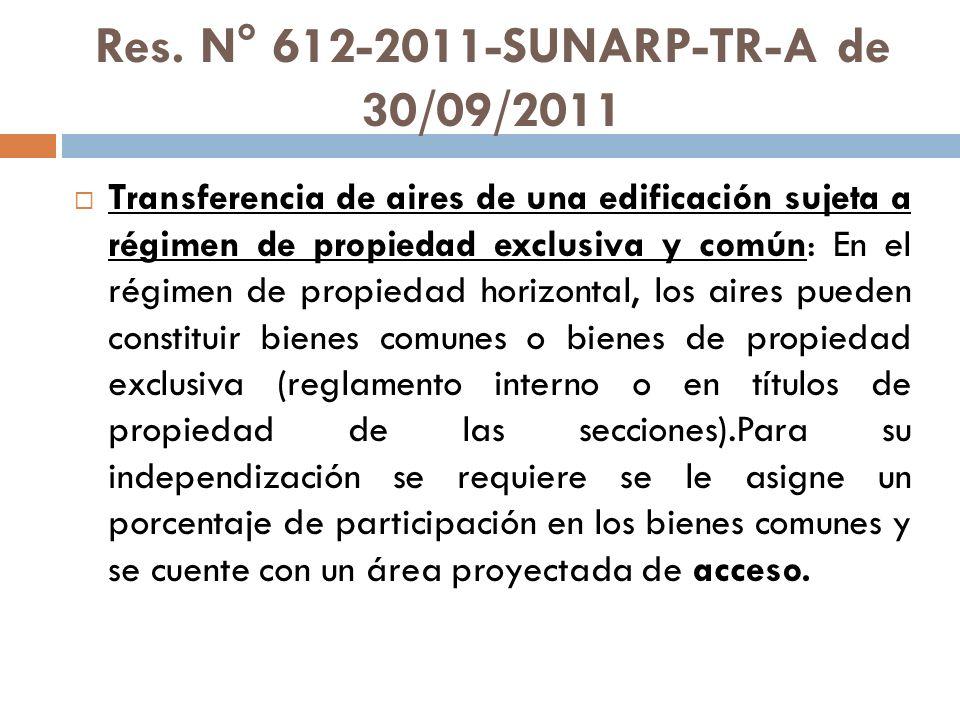 Res. N° 612-2011-SUNARP-TR-A de 30/09/2011