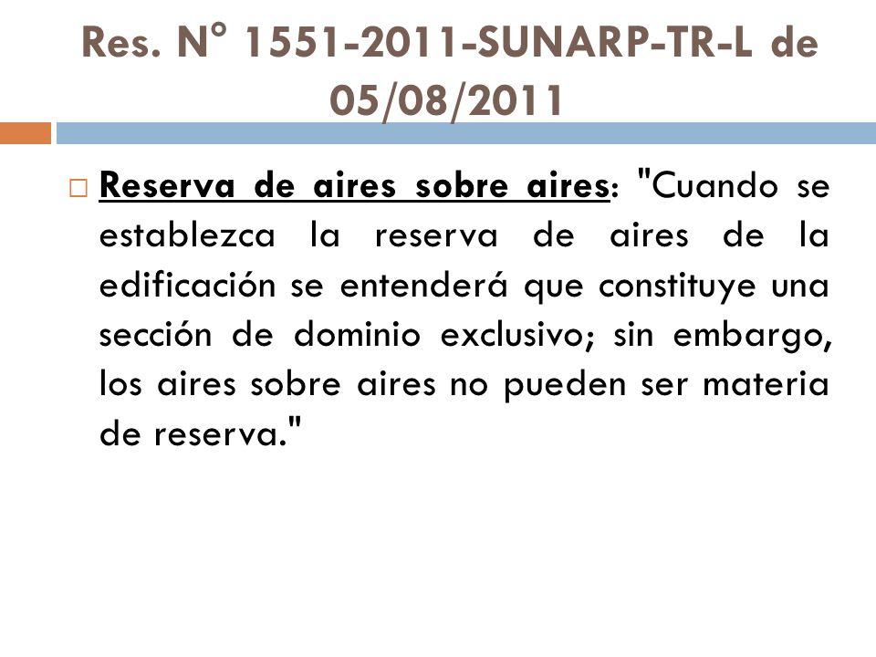 Res. N° 1551-2011-SUNARP-TR-L de 05/08/2011