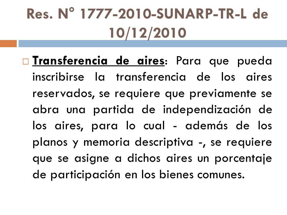 Res. N° 1777-2010-SUNARP-TR-L de 10/12/2010