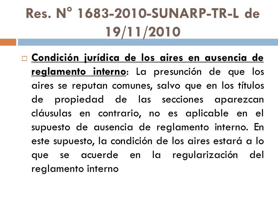 Res. N° 1683-2010-SUNARP-TR-L de 19/11/2010