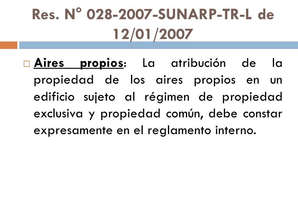 Res. N° 028-2007-SUNARP-TR-L de 12/01/2007