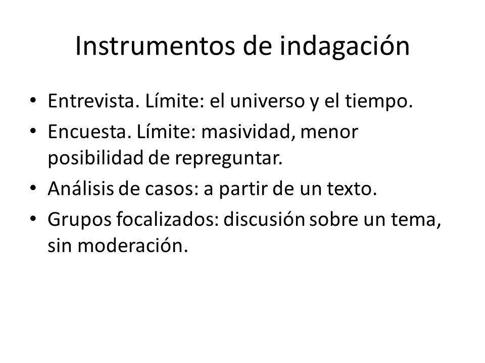 Instrumentos de indagación