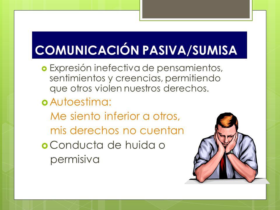 COMUNICACIÓN PASIVA/SUMISA