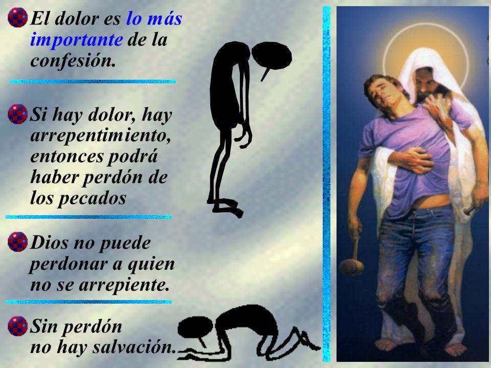 El dolor es lo más importante de la confesión.