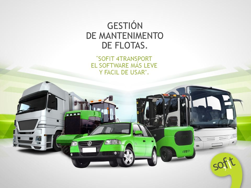 GESTIÓN DE MANTENIMENTO DE FLOTAS. SOFIT 4TRANSPORT