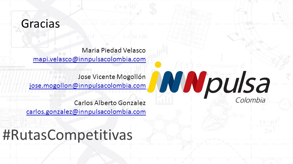 #RutasCompetitivas Gracias Maria Piedad Velasco