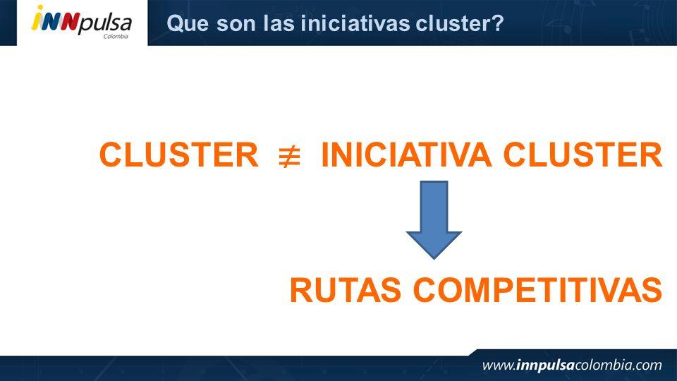 CLUSTER ≢ INICIATIVA CLUSTER
