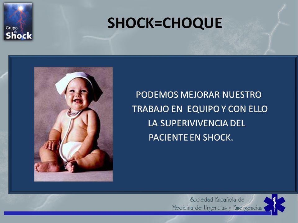 SHOCK=CHOQUE PODEMOS MEJORAR NUESTRO TRABAJO EN EQUIPO Y CON ELLO