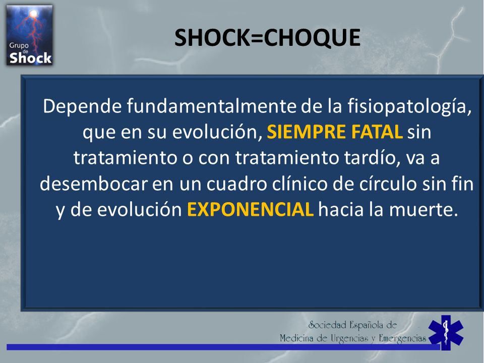 SHOCK=CHOQUE