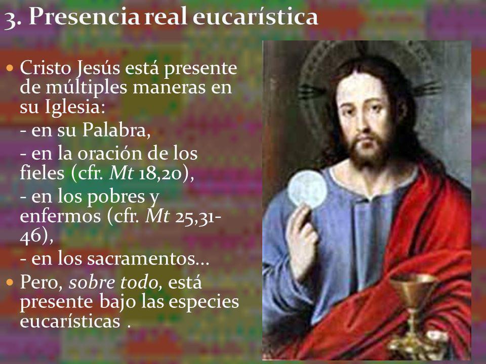 3. Presencia real eucarística