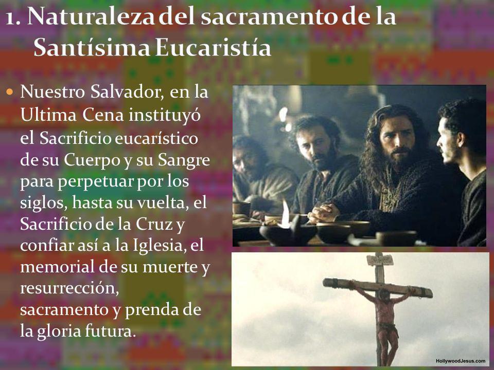 1. Naturaleza del sacramento de la Santísima Eucaristía