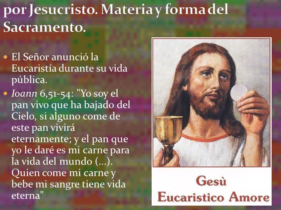 2. La promesa de la Eucaristía y su institución por Jesucristo